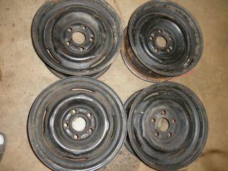 67 68 Mercury Cougar all 4 stock steel wheels 14x6 5 lug 4 5 Ford