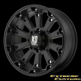 XD800 Misfit Matte Black 5 6 8 Lugs Wheels Rims Free Lugs