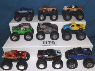 HOT WHEELS MONSTER JAM TRUCK LOT! 25th ANNIVERSARY GRAVE DIGGER & MORE