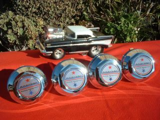 RACING 200 S DAISY MAG CAPS & TORQUE THRUST T 70 WHEELS HOT RAT ROD