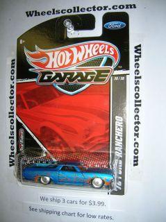 72 Ford Ranchero 2011 Garage RARE J Case Release Hot Wheels