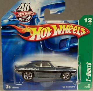 Hot Wheels 208 Super Treasure Hunt 69 Camaro Short Card