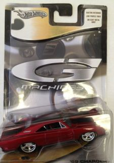 Hot Wheels G Machines 1 50 69 Dodge Charger Metallic Red and Black