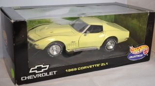 Hot Wheels Collectibles 1969 Chevy Corvette ZL1 Stingray YELLOW Car 69