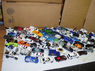 70 Die Cast Police Hot Wheels Matchbox etc Cars Trucks Lot