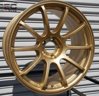 Rota G Force 18x8 5 5x114 3 48 73 1 Gold Rim Wheel