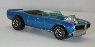 Redline Hotwheels Blue 1970 Light My Firebird