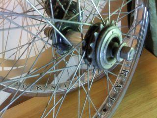 Chrome rims SUNSHINE Sealed hubs Team Schwinn Freewheel BMX WHEELS