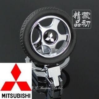 Key Ring New Mitsubishi Car Alloy Wheels Turn Lancer Pajero ASX