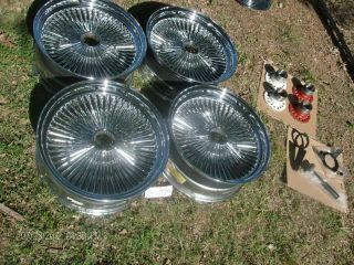 150 Spoke Wire Wheels 20x8 Dayton Style Rims Clean 5 Lug 5x4 5 5x4 75