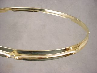 16 Brass Plated Gold 8 Hole Heavy Duty Tom Drum Rim Hoop