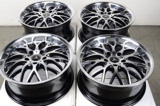 Wheels Mercedes Audi Maybach CLK350 S500 E320 E350 Polished 5 Lug Rims