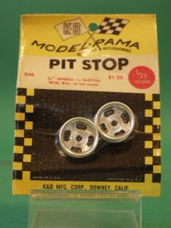 Slot Car Racing 206 Wide Rim Mag Wheels One Pair SEALED Package