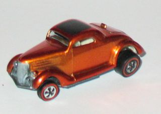 1969 Hot Wheels Redline Classic 36 Ford Coupe Orange Near Mint w Badge
