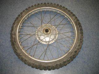 Front Wheel Tire Hub Rim 1975 75 Honda XL250 250K2 Motosport 250