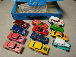 HOTWHEELS BLACKWALLS NO REDLINES LOT 1980 MINT 12 CAR CASE BLUE HOT