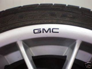 GMC Wheels Rims Sticker Decal Logo SUV AWD Quattro New