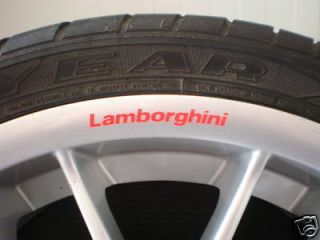 Lamborghini Red Wheels Rims Sticker Decal Logo Gallardo