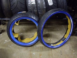 Vee Rubber Wide White Wall Tires 200 55 17 Rear 130 50 23 Front