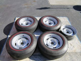 CHEVY CORVETTE LARGE AG RALLY WHEELS FIRESTONE REDLINE TIRES L88 RARE
