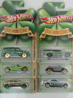 Hot Wheels 2011 Clover Cars Complete Set of 6