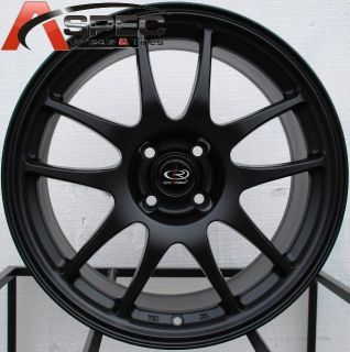 17x8 Rota Torque 4x100 35 Flat Black Wheel Fits Civic Miata XA XB