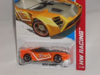 Hot Wheels 2013 HW Racing x Raycers Series Nerve Hammer Clear Orange 3