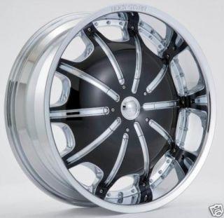 24Rockstar 557 Wheels Tires GM Cadillac Nissan 6x139 7