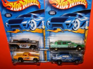 2001 Hot Wheels RARE Turbo Taxi Series Collection 1 4 Lot