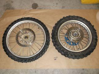 YZ80 Yamaha Front Rear Wheel Tire Rim Hub Spokes YZ 85 80 2004