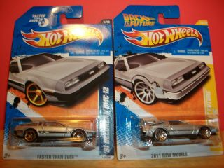 Hot Wheels 81 DeLorean DMC 12 Back to The Future Time Machine New