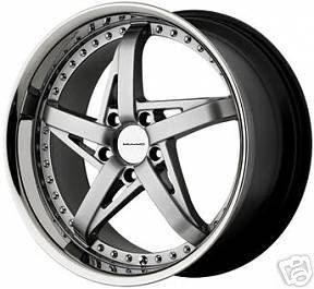 18x8 Silver KMC GTX Wheels Rims BMW Mustang Mercedes GT