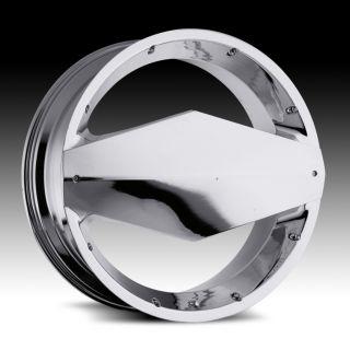 26 inch Vision Morgana Chrome Wheels Rims 5x5 5x127 15