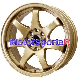 16 16x7 XXR 522 Gold Concave Wheels Rims 4x114 3 87 Toyota Corolla GTS