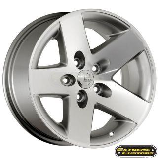 16 x8 Mamba MR1 Silver Machined 5 Lug Wheels Rims Free Lugs