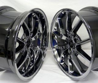 Black Chrome FR500 Wheels 20x8 5 20x10 20 inch Deep Dish Fits Mustang