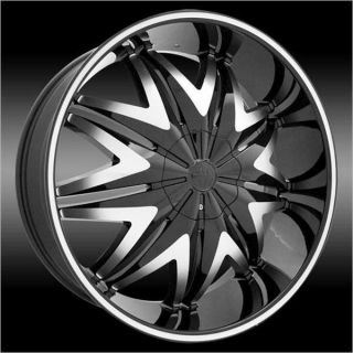 Single Wheel 24 inch Krystal Black Wheels Rims 5x115 15 and A 275 25