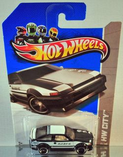 Hot Wheels Toyota AE 86 Corolla 2013 HW City 2 Stripe Version Black