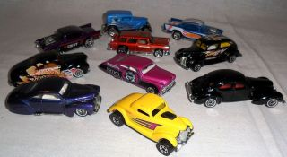 LOT OF 10 DIECAST CLASSIC HOTWHEELS CAR COLLECTION 7 1 64 SCALE FREE