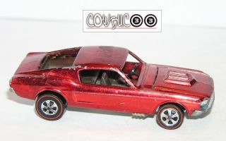 1968 Hot Wheels Redline Custom Mustang HK CLASSIC PONY w UPSIDE YR #1