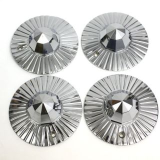 Luxor Wire Wheels Center Caps Bullets Chrome 80 Spoke