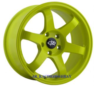 17 Rota Wheels 17x9 12 Grid Yellow 4x114 89 90 91 92 93 240sx s13