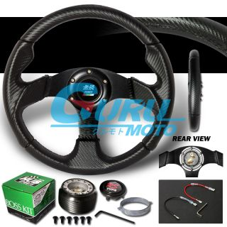 MUG 90 93 ACCORD 92 96 PRELUDE BLACK CARBON LEATHER STEERING WHEEL