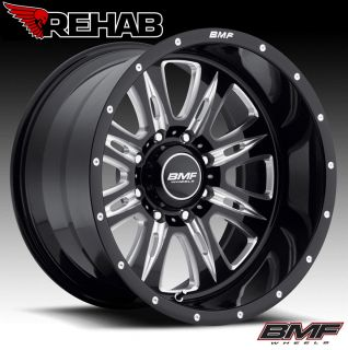 BMF Rehab 20x10 Death Metal Black Wheels 8x170 Ford Superduty