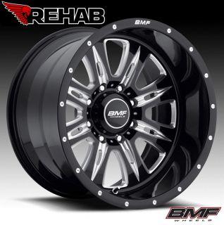 BMF Rehab 20x10 Death Metal Black Wheels 8x170 Ford Superduty