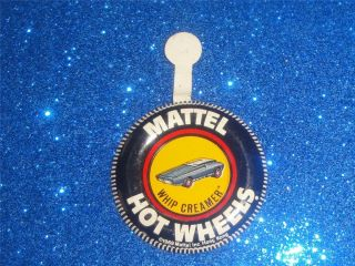 Hot Wheels Whip Creamer 1969 Vtg Pin Badge Redline Mattel Tab Made in