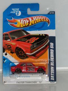 Hot Wheels 12 HW Faster Than Ever Red Datsun Bluebird 510 92 247
