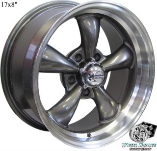 17x8 17x9 GRAY REV CLASSIC 100 WHEELS RIMS FOR CHEVY IMPALA SS 1994