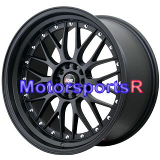 18 XXR 521 Flat Black Rims Wheels Staggered 5x114 3 93 94 97 98 Toyota