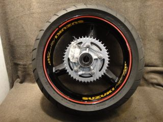 02 2002 Suzuki GSXR750 GSX R 750 Wheel Rear Rim Tire A102